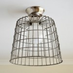DIY Repurposed Basket Ceiling Light