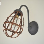 Industrial Sconce Light Makeover