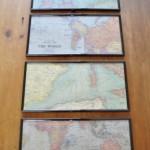 Map Gift Wrap Art