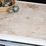 Coastal Map Coffee Table