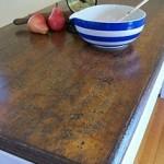 DIY Scored Plank Table