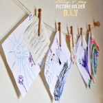 String and Peg Picture Holder