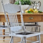 Cottage Chair Revamp with Metal Seat Plates