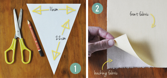 How To Make Fabric Bunting Flags
