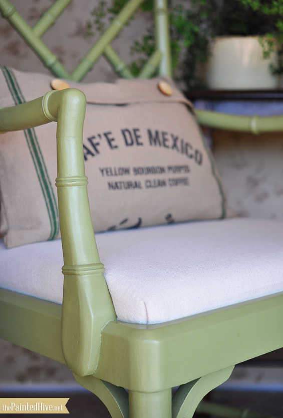 Faux Bamboo Chippendale Chair Makeover