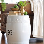 How To Paint Ceramic…Drum Stool Redo