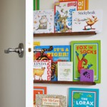 Easy DIY Narrow Floating Bookshelves (for behind a door)