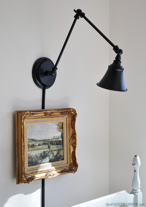 Wall Mounting A Desk Lamp The Painted Hive