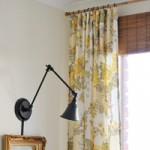 Quilt Cover Curtains…and a faux bamboo blind