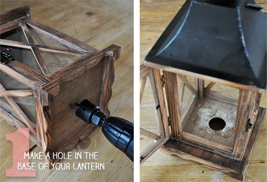 How to Make a Lantern into a Lamp | The Painted Hive