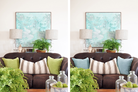 Styling with Different Coloured Cushions