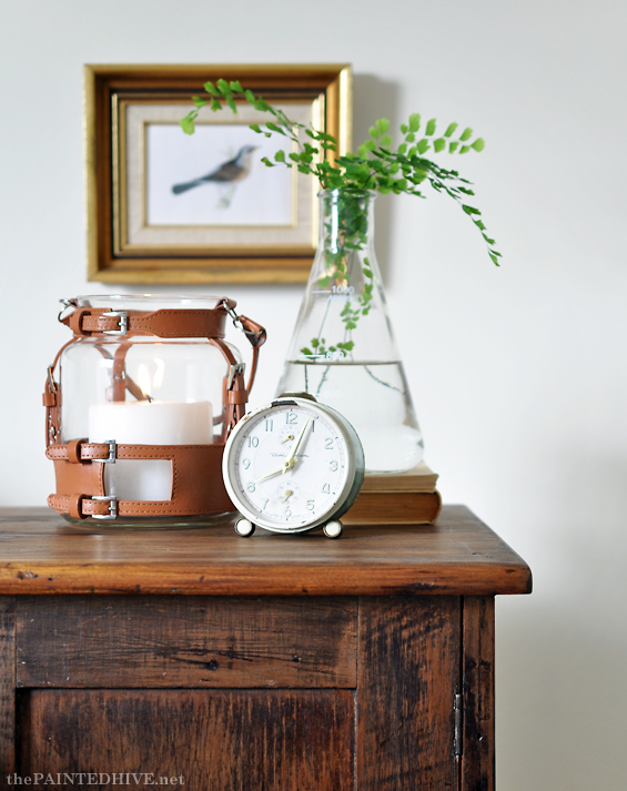 Vintage Lantern Vignette | The Painted Hivev
