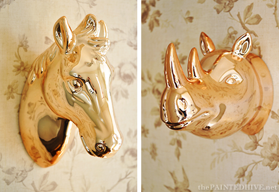 Metallic Rosegold Animal Heads | The Painted Hive