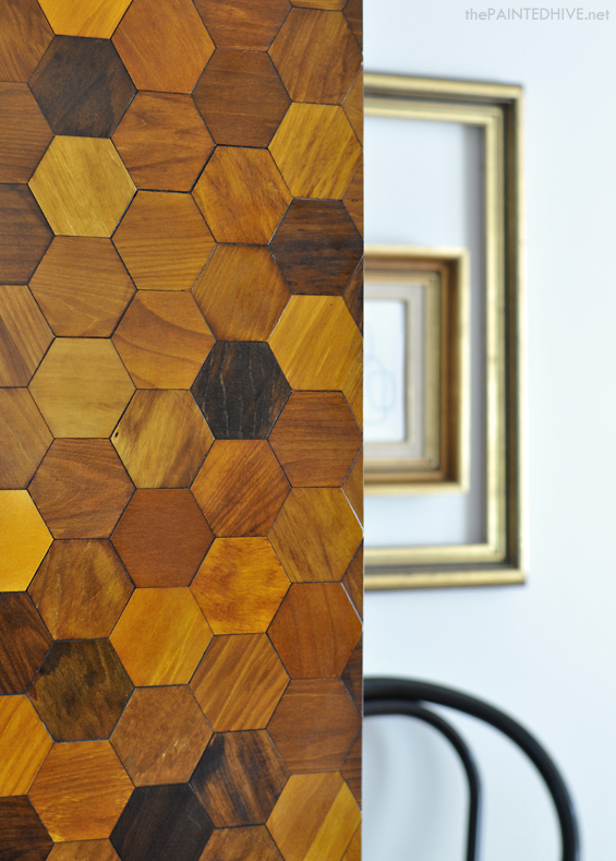 DIY Hexagon Parquetry Wardrobe | The Painted Hive
