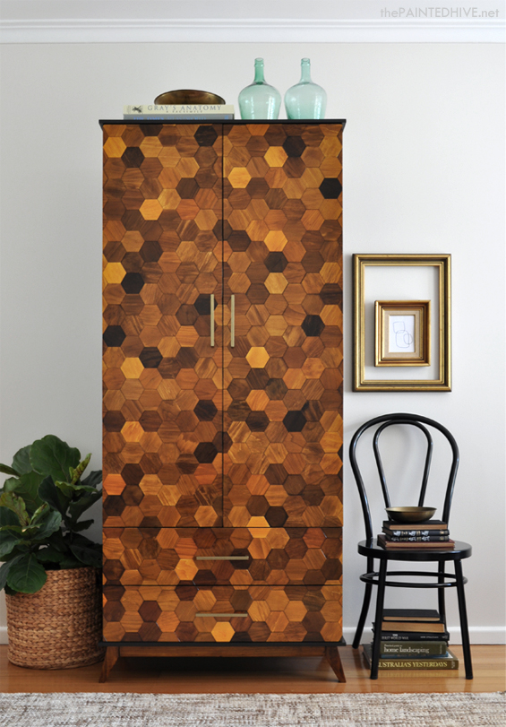 DY Hexagon Parquetry Armoire Tutorial | The Painted Hive