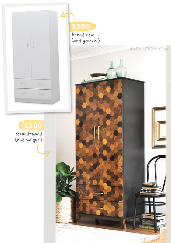 Laminate Wardrobe Hack | The Painted Hive