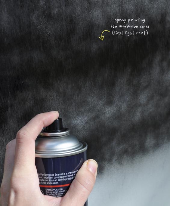 Spray Painting Laminate
