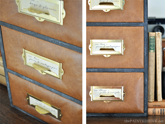 Antique Brass Label Holders | The Painted Hive