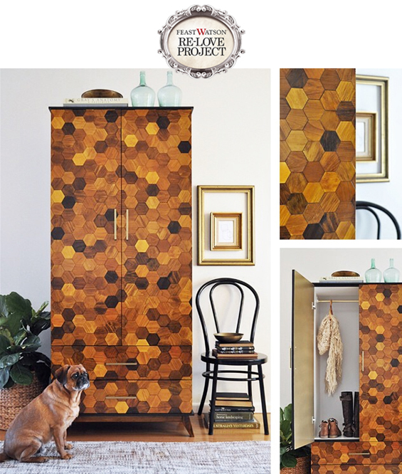 Honeycomb Parquetry Armoire