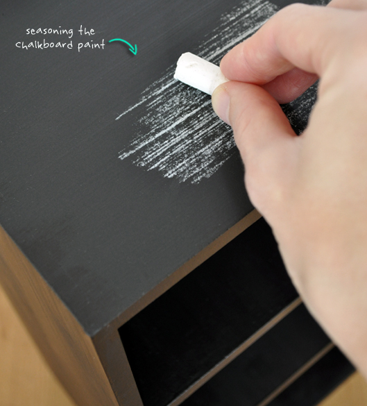 Seasoning the Chalkboard Paint