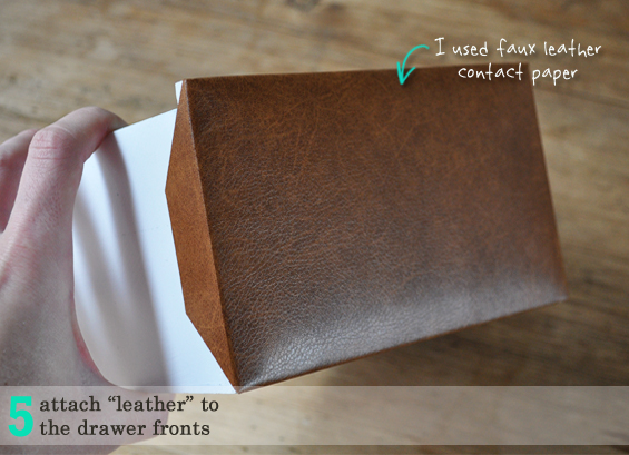 Leather Upholstered Mini Drawer Hack