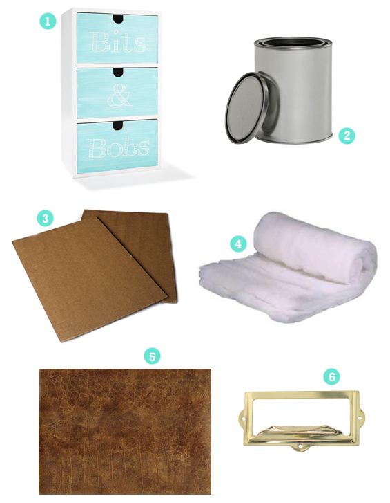 DIY Leather Covered Drawers Hack