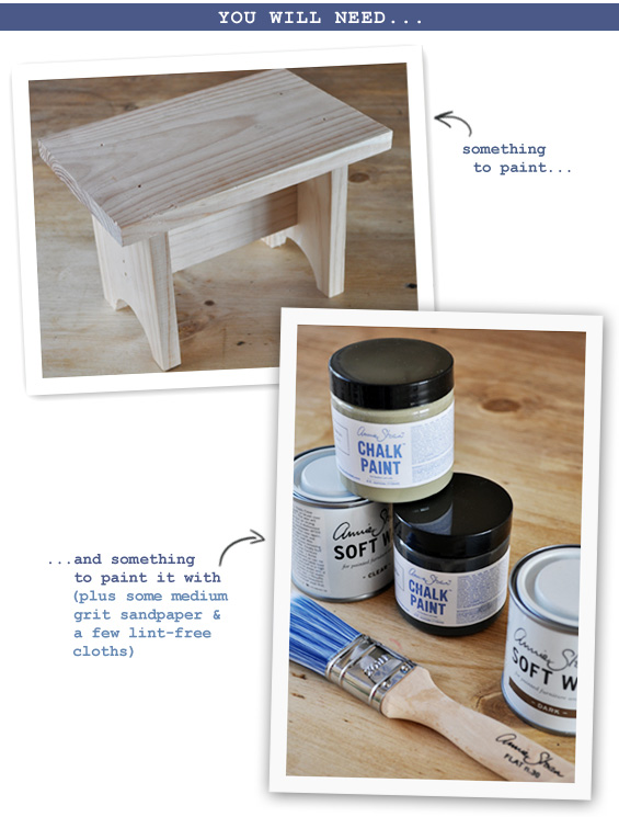 Chalk Paint Project Supplies