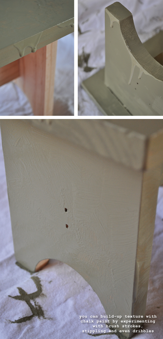 Creating Texture with Chalk Paint