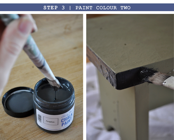 Step 3 |Distressed Chalk Paint Tutorial
