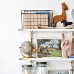 Acrylic & Brass Shelves