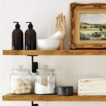 DIY Handrail Farmhouse Industrial Shelves