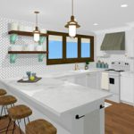 A Virtual Cottage Kitchen Redesign…which plan do you prefer?