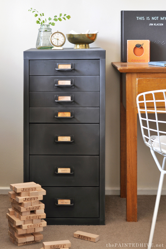 Modern Metal To Farmhouse Fab File Cabinet Makeover