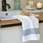 Easy DIY Trimmed Towels…plus stylish & scrumptious scents