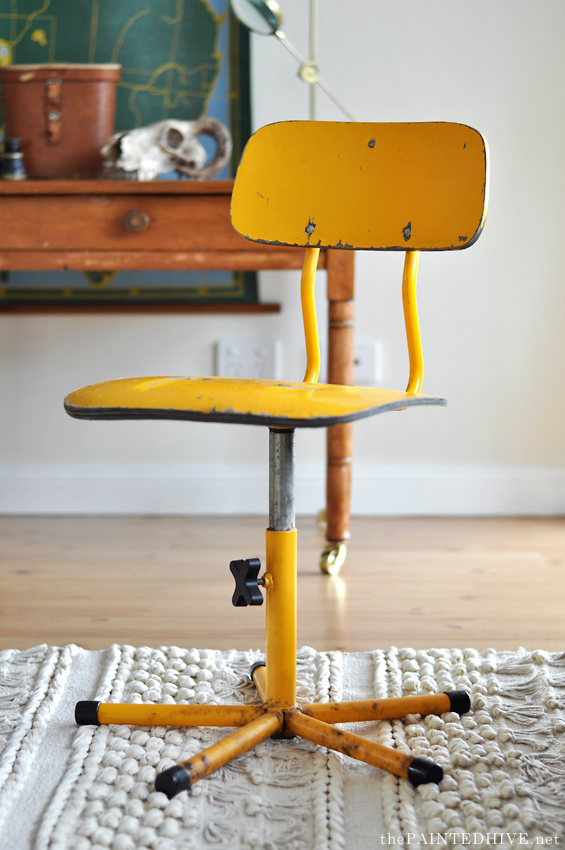A New Vintage Desk Swivel Chair The Painted Hive