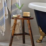 Rustic DIY Stool Hack…using a $12 kids' stool