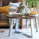 Easy DIY Cross Base Table Tutorial