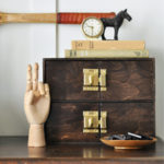 Vintage-Style Mini Drawer Hack with Latch Handles