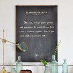DIY Book Page Quote Sign
