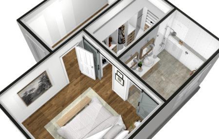 Bathroom Suite Overhead