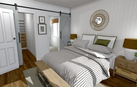 Bedroom Barn Doors Open